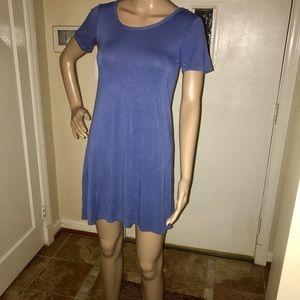 Dresses & Skirts - Women's Mini Periwinkle T-Shirt Dress - Size Small